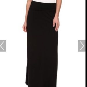 SPLENDID Black Stretch Maxi Skirt/Dress Fold Down